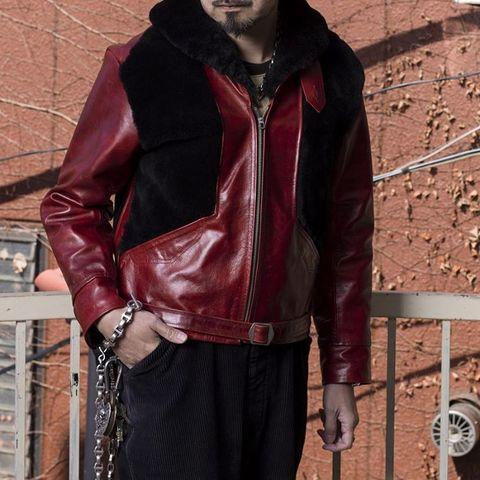 """Dapper's × 8UP Grizzly Jacket Premium Horse Leather """"Red"""""""
