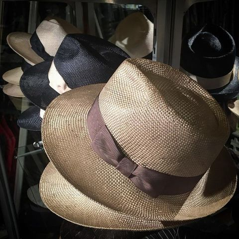 """Speier's """"Classical Qing Ramie Brim Hat"""""""