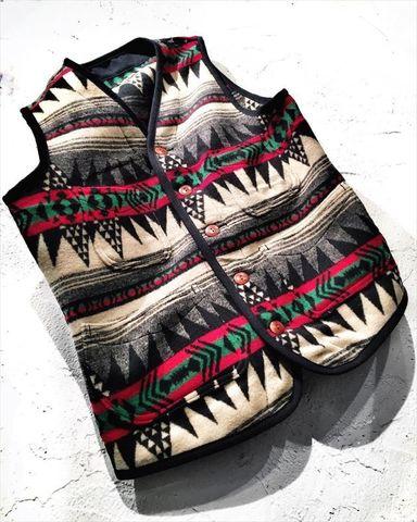 "Dapper's ""Native Pattern Blanket Vest"""