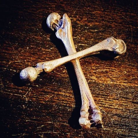 "Junk Smith ""Large Cross Bones Pins"""