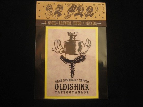 "RUSSET & MIND STICKER ""OLDISHINK HAT HAND"""