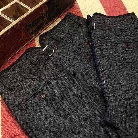 V-Shaped Slit Classic Trousers LOT1099