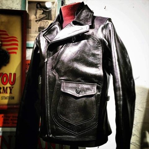 "Dapper's ""Aviator Style Horsehide Leather Jacket"""