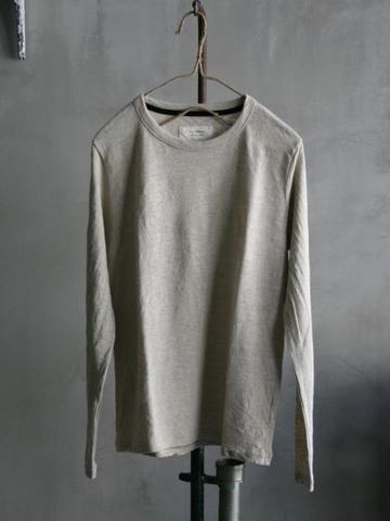 <ユニセックス>Vlas Blomme レギュラー天竺 長袖Tシャツ 15フラックス