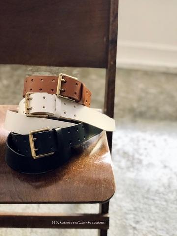 ICHI Antiquites  Cow Leather Belt