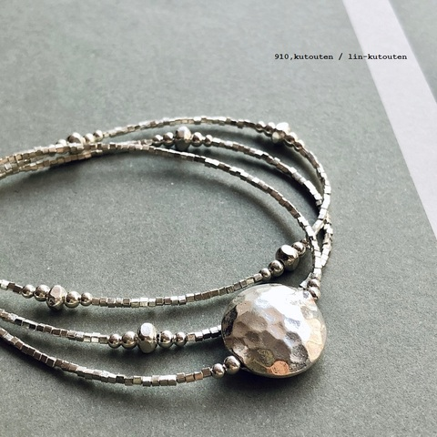 完売*noy. by ichi Antiquites  Silver3連ブレスレット