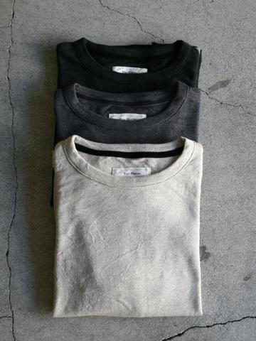 ラスト1点サイズ3<ユニセックス>Vlas Blomme レギュラー天竺 長袖Tシャツ 15フラックス