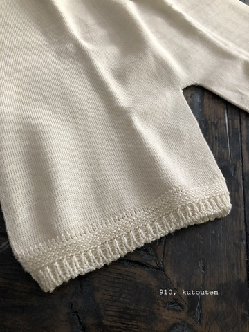 コットンシルクの丸胴編みオーバーパンツ