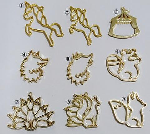 フレーム(動物) ユニコーン/サーカス/オオカミ/タヌキ/九尾/キツネ