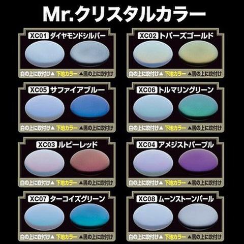 Mr.クリスタルカラー/今までにない輝きと発色を実現できるパール塗料