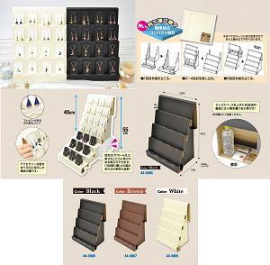 組立式傾斜かざり棚 ブラック/ブラウン/ホワイト