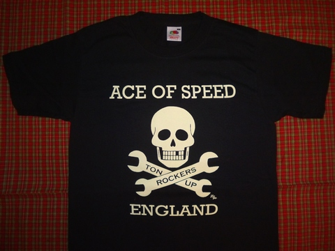 <ACE OF SPEED> SKULL & SPANNERS T-SHIRT