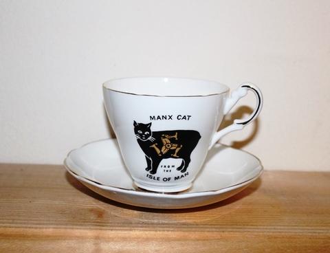MANX CAT Cup & Saucer
