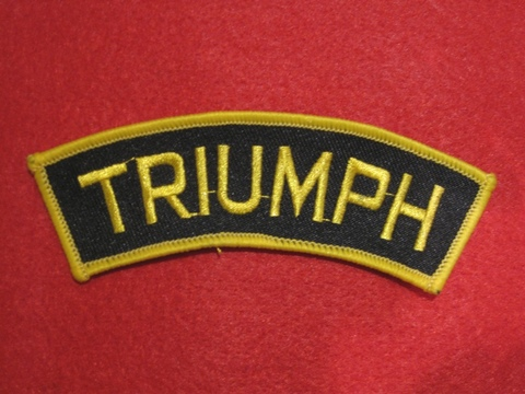 <SHOULDER PATCH> TRIUMPH yellow