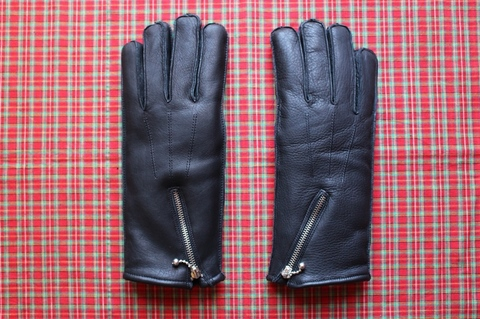<GOLDTOP> ZIP GLOVES Wool Lining