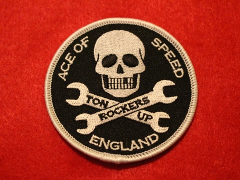 <ACE OF SPEED> SKULL & SPANNERS PATCH