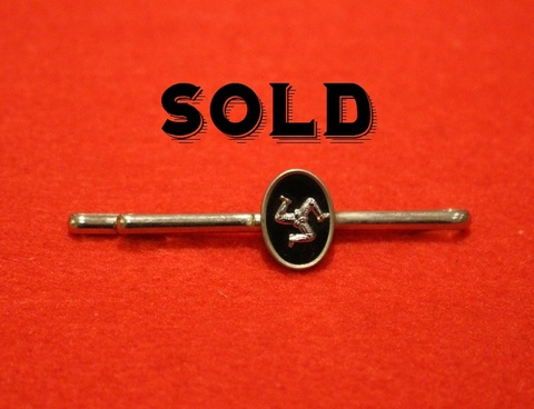 ISLE OF MAN TIE PIN (Black)