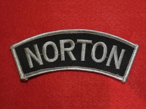<SHOULDER PATCH> NORTON silver