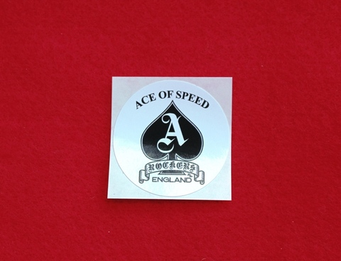 ACE OF SPEED Sticker White