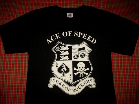 <ACE OF SPEED> DUKE OF ROCKERS T-SHIRT