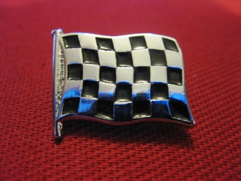 <BADGE> CHECKERED FLAG small