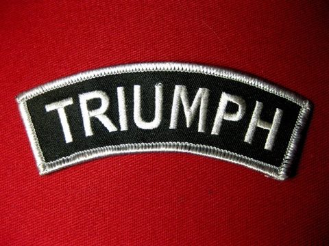 <SHOULDER PATCH> TRIUMPH silver