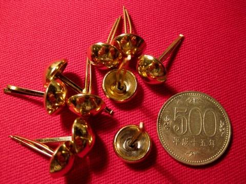 <STUDS> GOLD 13mm x 10