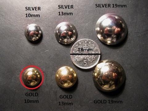 <STUDS> GOLD 10mm x 50