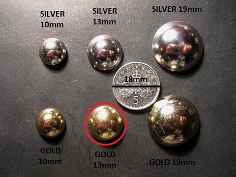 <STUDS> GOLD 13mm x 50