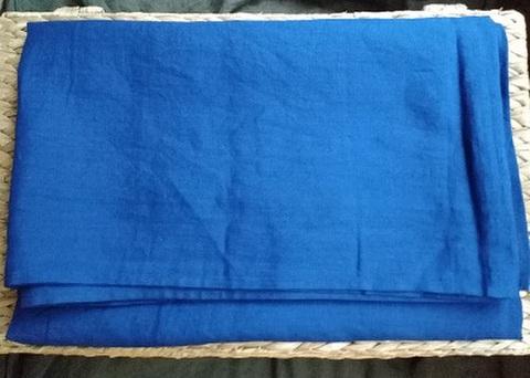 麻の一枚布 ブルー