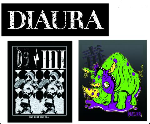 DIAURA ステッカー(3枚SET)
