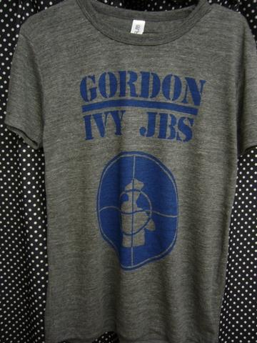 GORDON IVY & THE JAYBIRDS - PUBLIC ENEMY RIP OFF Tシャツ 【ヴィンテージ風トライブレンドヘザーブラック】