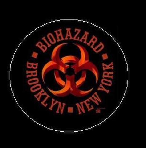"""Biohazard - logo 1"""" pin button"""