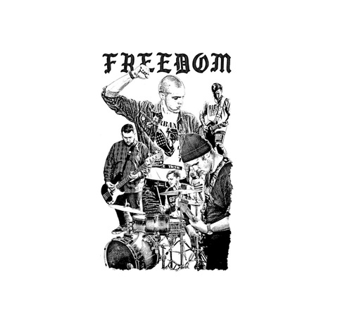 "Freedom  - logo 1"" pin button"