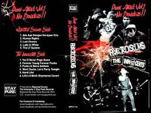 Rejected Scums / The Innocents – Punk Attack Vol.1 No Borders!! Cassette