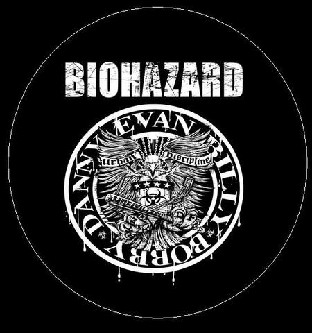 "Biohazard - Ramones 1"" pin button"