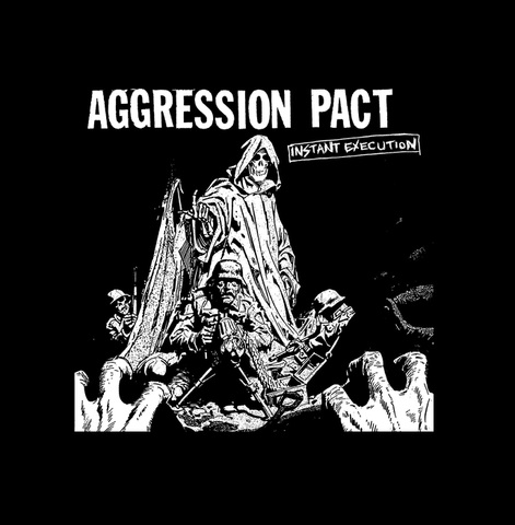 "Aggression pact  - 1"" pin button"