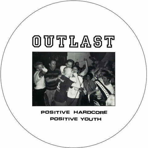 Outlast - 1インチPositive hardcoreバッジ