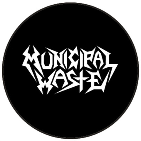 "Municipal waste logo 1"" pin button"