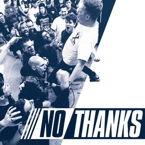 "No Thanks - S.T 7""黒盤青盤2枚セット"