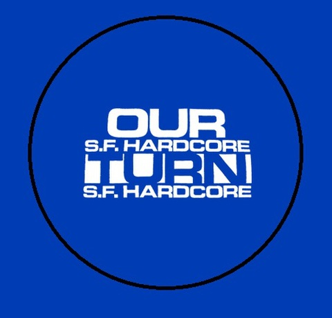 "Our turn - logo 1"" pin button"