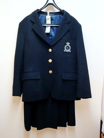 【訳あり】日本女子体育大学附属二階堂高校 ブレザー+スカートSET
