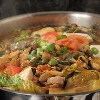 ちから肉鍋 野菜付き