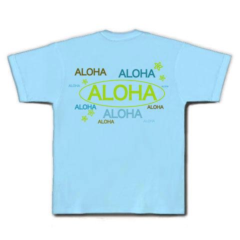 ALOHA Tシャツ(ライトブルー)
