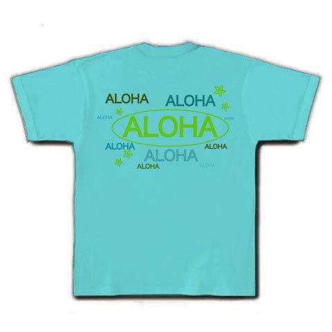 ALOHA Tシャツ(アクア)