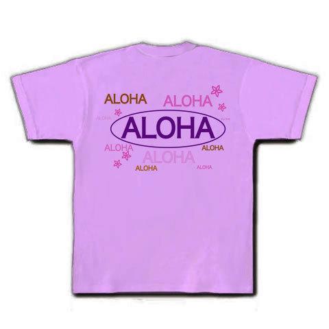 ALOHA Tシャツ(ラベンダー)