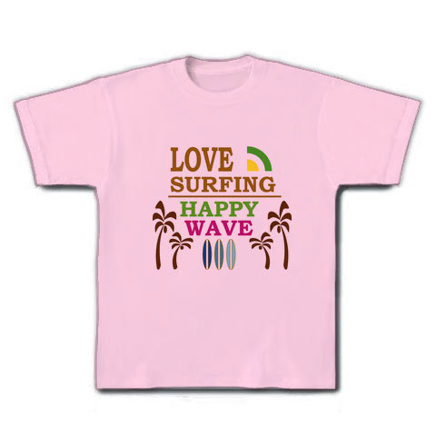 LOVE SURFING Tシャツ ライトピンク