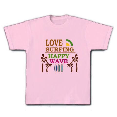 LOVE SURFING Tシャツ ライトピンク