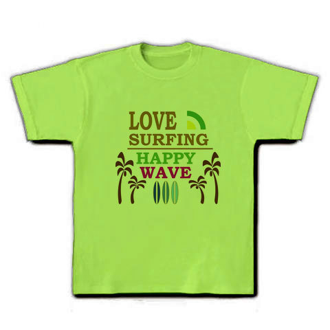LOVE SURFING Tシャツ ライム