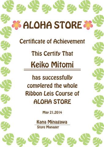 ディプロマコース(ALOHA STOREの全種類リボンレイキット+ディプロマ+プレゼント)※パイナップルと、ハワイアンフラワー付きは含まれません※ 【送料無料】